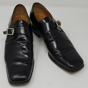 "Ralph Lauren Black Leather 1 1/2"" Heel 8B"